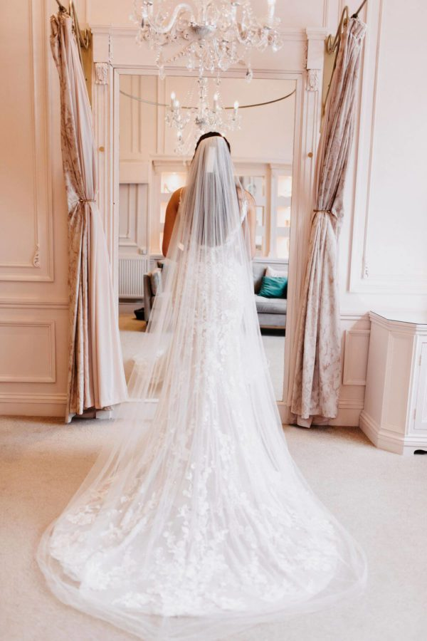 The gorgeous Emily veil makes for the perfect accessory for any bride to be. Click to shop now and see more beautiful veils.